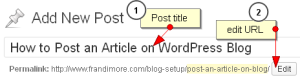 wordpress post title